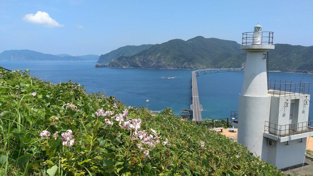 鳥ノ巣山展望所 からの甑大橋の眺め