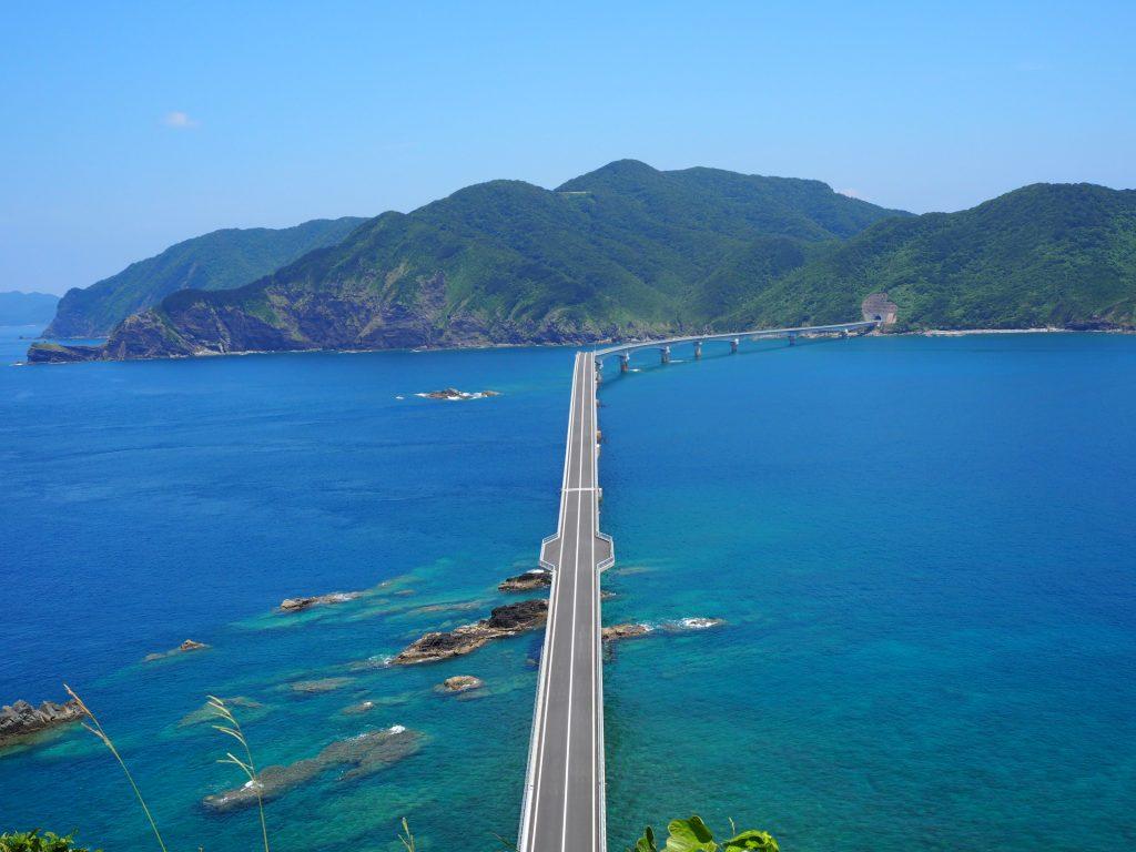 鳥ノ巣山展望所 から見る甑大橋